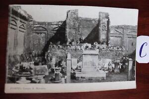 DéVoué Carte Postale Vue Carte Italie Pompéi-afficher Le Titre D'origine