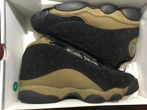 pretty nice ba181 44393 Image is loading Nike-Air-Jordan-XIII-13-Black-Light-Olive-