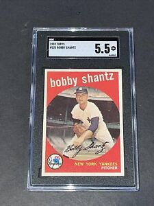 1959 Topps #222 Bobby Shantz SGC 5.5 Newly Graded & Labelled PSA BVS