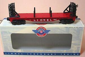 6467-Lionel-Flatcar-With-Bulkheads-6-26060-Brand-New-C-10-m