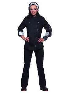 Rock Chef-Koch Jacke Damen schwarz RCJF 2//1 super cool Karlowsky