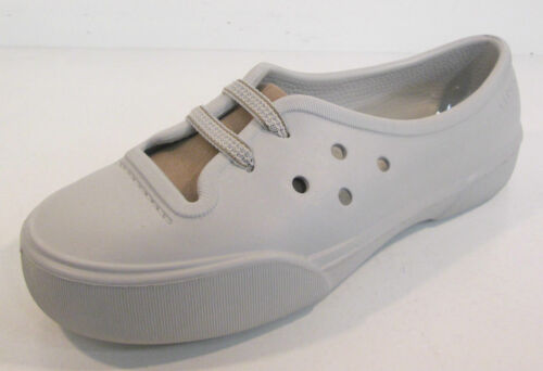 LADIES CROCS PEARL WHITE//KHAKI SYNTHETIC BEACH//CASUAL SHOES STYLE NAHANI