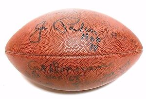 Lenny Moore Raymond Berry Art Donovan Jim Parker Signed Autographed Football HOF