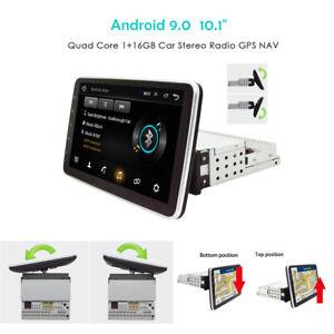 NEW-1Din-Android-9-0-10-1-034-Screen-Rotatable-4-Core-Car-Stereo-Radio-GPS-NAV