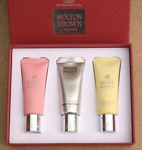Molton-Brown-Main-Creme-Ensemble-Cadeau-3-X-40ml-Emballe-Rhubarbe-Rose-Orange