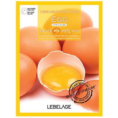 3 Pcs Egg Lebelage Natural Mask Facial Essence Sheet Pack Korea Beauty