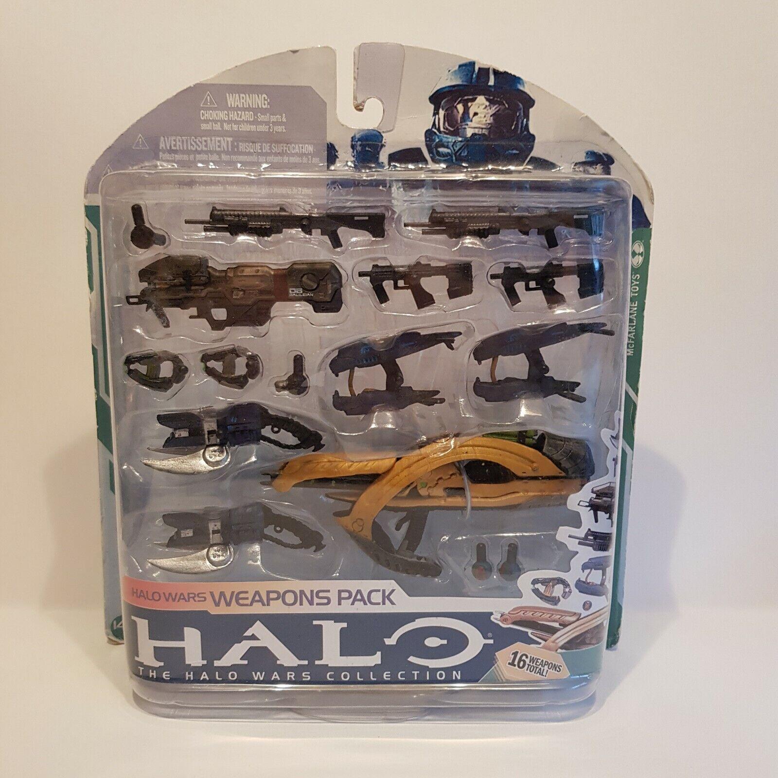 Halo Wars Mcfarlane Weapons Pack sealed shelf worn