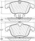 Disc Brake Pad Set-C-TEK Metallic Brake Pads Front Centric 102.12410