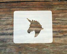 Unicorn Small Face Painting Stencil 7cm x 6cm 190micron Washable Reusable Mylar