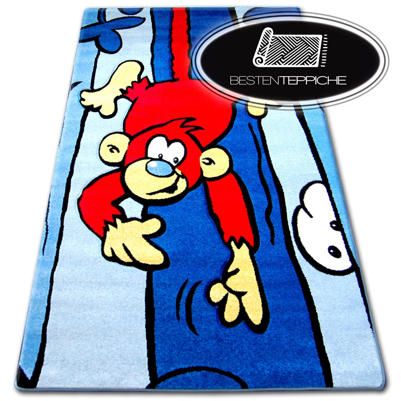 Moderno e tappeti a buon mercato per Bambini  Happy  Scimmia Blu - 6 dimensioni