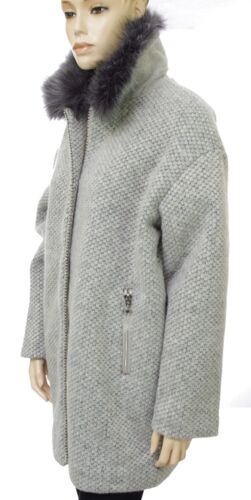 Vrouw Cherries Oversized Ash Coat Duchess Of The Time Lainage Grey Grey gfwHY