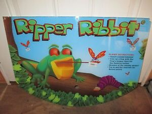 """Lovely Coastal Amusements Ripper Ribbit Plexiglass Control Panel Artwork 27""""x20.50"""",guc To Reduce Body Weight And Prolong Life Collectibles"""
