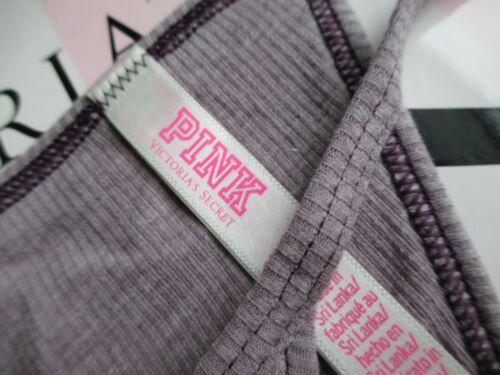 VICTORIA/'S SECRET VS PINK Purple Ribbed Cotton V-String Thong Panty S M L XL