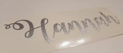 Personalised large name VINYL decal sticker for gift box