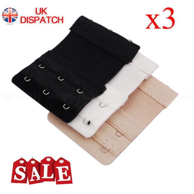 4d58fdd565 3 Pcs Bra Extender 3 Hooks Ladies Bra Extension Strap Clasp Underwear  Strapless