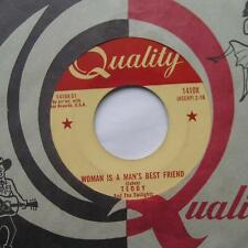 TEDDY & THE TWILIGHTS Woman is a man's best friend MEGA RARE ORIG '62 QUALITY 45