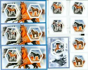 Realistic Horses Horse Set 6 Hexagon Stamps Pets & Farm Animals Stamps 4 S/s Tchad 2014 Mnh #tchad2014-127s And To Have A Long Life.