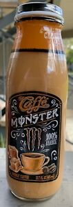 NEW-CAFFE-MONSTER-ENERGY-COFFEE-SALTED-CARAMEL-DRINK-13-7-FLOZ-FULL-GLASS-BOTTLE