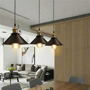 Retro-Metal-Ceiling-Pendant-Lamp-Light-Shade-Easy-Fit-Lampshade-Holder-Kitchen