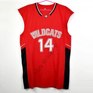 Zac-Efron-14-Troy-Bolton-East-High-School-Wildcats-Men-039-s-Basketball-Jersey