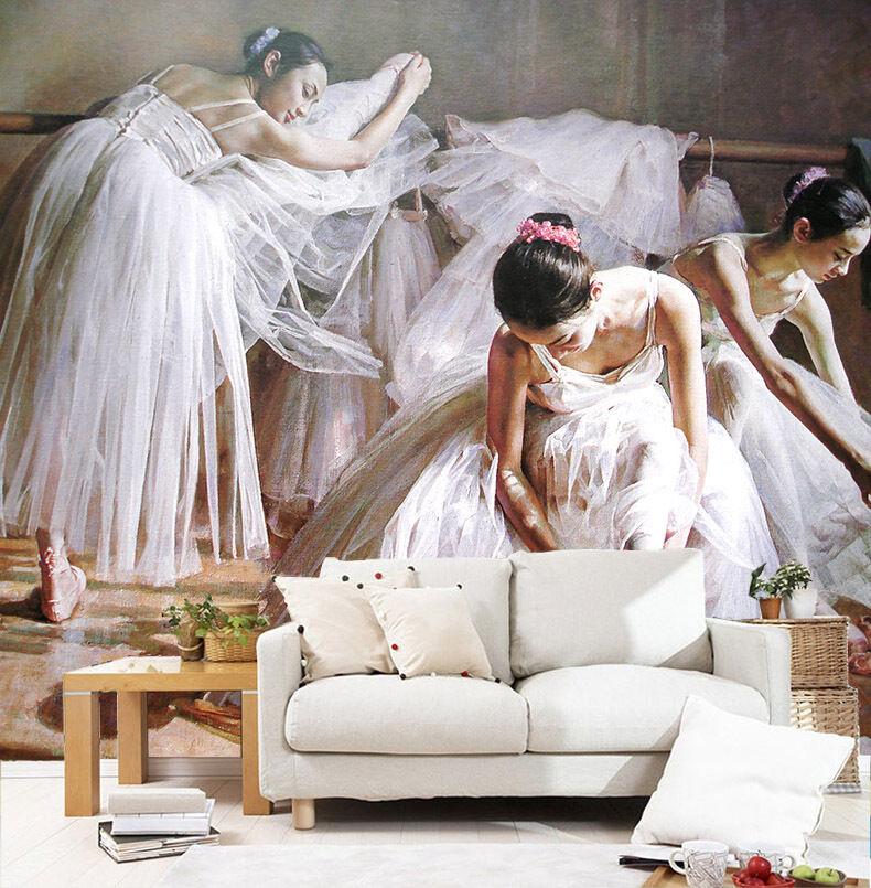 3D Elegante Mädchen 3920 Fototapeten Wandbild Fototapete BildTapete Familie