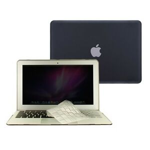 2-in-1-Rubberized-BLACK-Case-for-Macbook-AIR-13-A1369-with-TPU-Keyboard-Cover