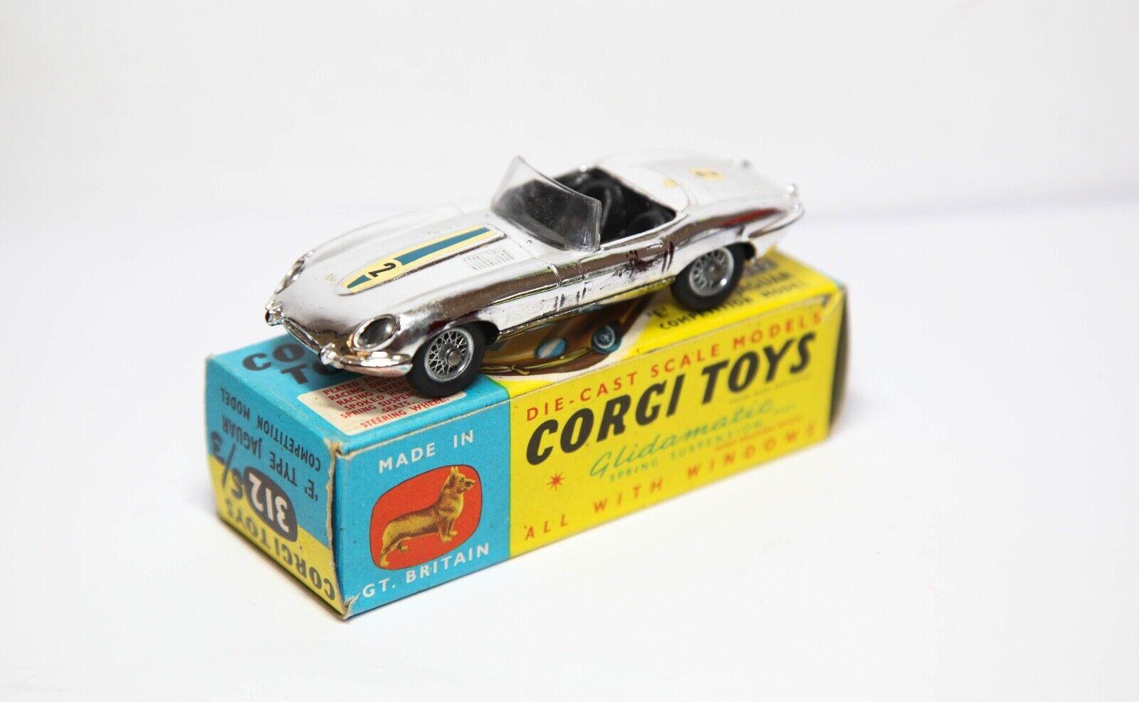 Tipo de Corgi 312 E Modelo de competencia Jaguar En Su Caja Original-Excelente Modelo