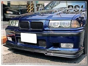 Details About Carbon Fiber V Style Front Bumper Lip For 1992 1998 Bmw E36 M3 Coupe Sedan