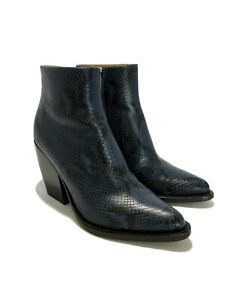 CHLOE-039-RYLEE-039-NAVY-SNAKE-ANKLE-BOOTS-38-1450