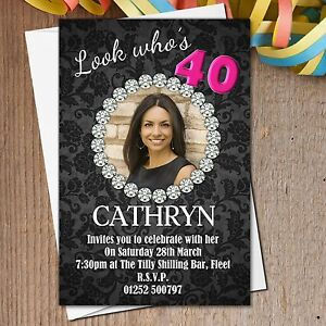 10-Personalised-18th-21st-30th-40th-50th-60th-Birthday-Party-Invitations-N186