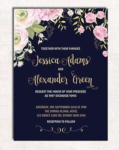 Floral-Wedding-Invitation-Navy-Pink-Gold-Flowers-Invite-Hens-Night-Garden-Party
