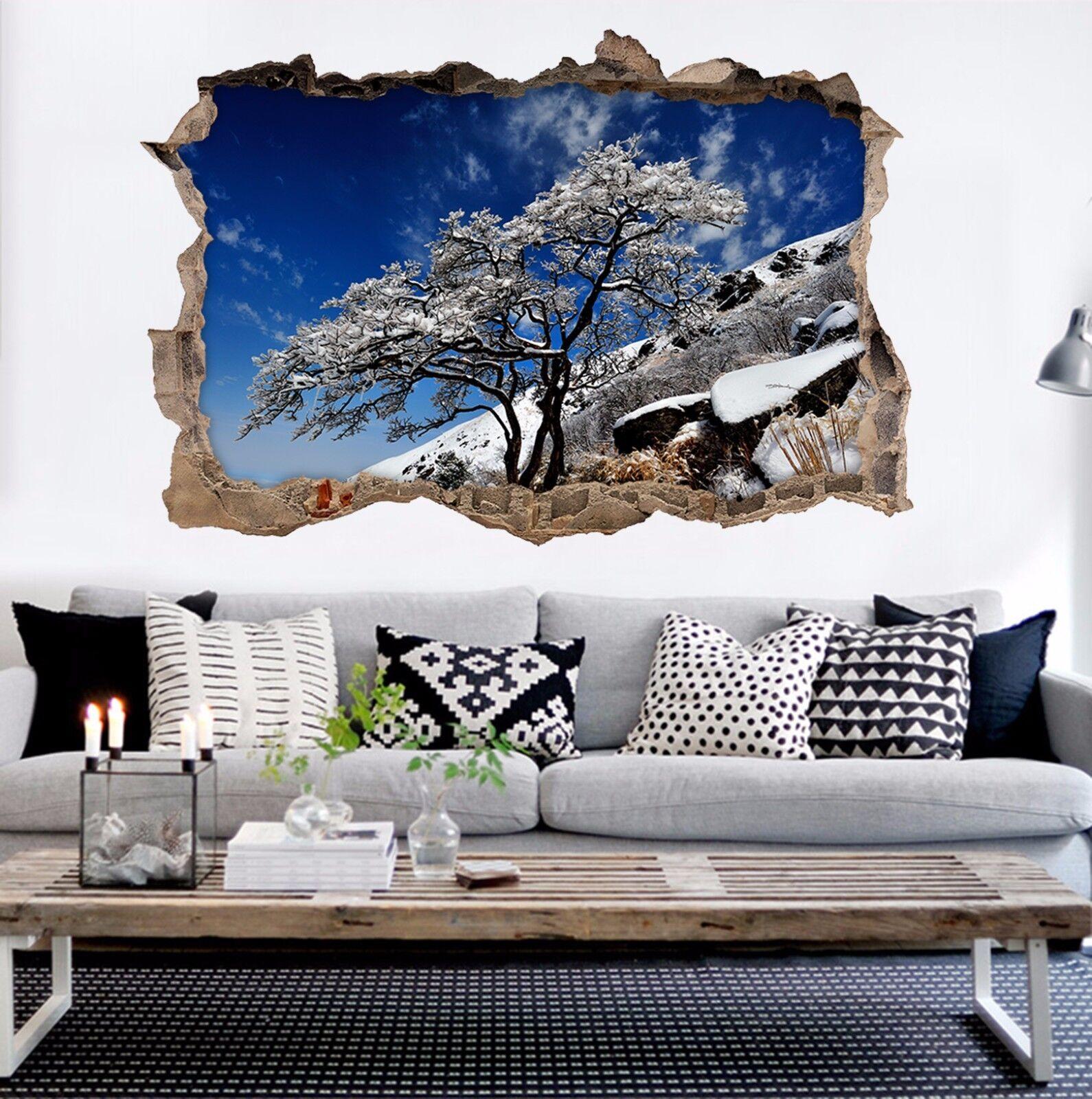 3D Baum Schnee  844 Mauer Murals Mauer Aufklebe Decal Durchbruch AJ WALLPAPER DE