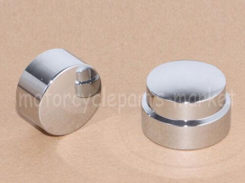Chrome Rear Axle Nut Cover Cap For Harley Softail Dyna V-Rod Sportster 883 1200