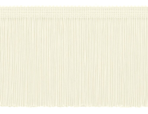 """Linen By The Yard Off White 4/"""" Chainette Fringe Trim Snow Queen"""