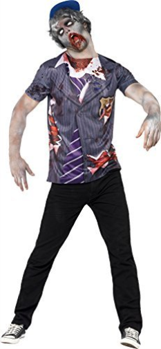 Zombie School Boy, Grey, T-Shirt & Cap, Sublimation Print (US IMPORT) COST-M NEW