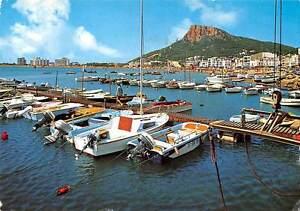 Spain-L-039-Estartit-Costa-Brava-Natuical-club-and-partial-view-boats-bateaux-port