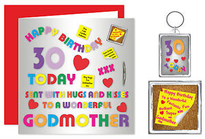 Image Is Loading Godmother Happy Birthday Gift Set Card Keyring Amp