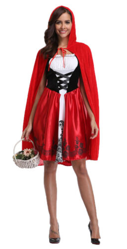 I-CURVES womens fairytale little red riding hood halloween complete costume