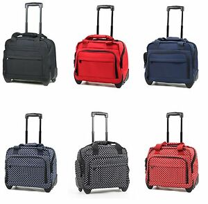 members essential on board rolling carry on business bag laptop case on wheels ebay. Black Bedroom Furniture Sets. Home Design Ideas