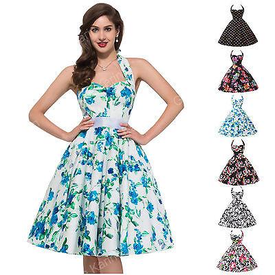 Vintage Style 50's 60s Party Gown EVENING Swing Retro Dance TEA Dress