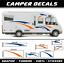 Motorhome stickers camper 2x decals caravan vw van tunning vinyl transporter