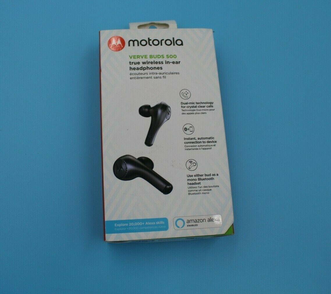 Motorola Verve Buds 500 True Black Wireless In Ear Headphones For Sale Online Ebay