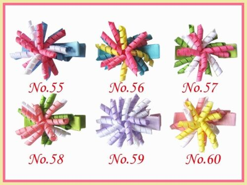 "300 BLESSING Girls 1.5/"" Corker Hair Bow Use 1//8/""  Ribbon 72 No."