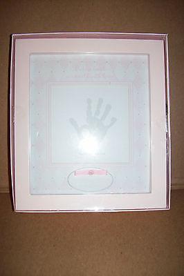 Giftable Shadowbox Handprint Kit Keepsake Hand Print Baby Girls New!