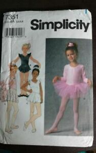 9bc1c983e Childs Leotard Skirt Tutu Bag Hair Accessory Pattern Simplicity 7351 ...