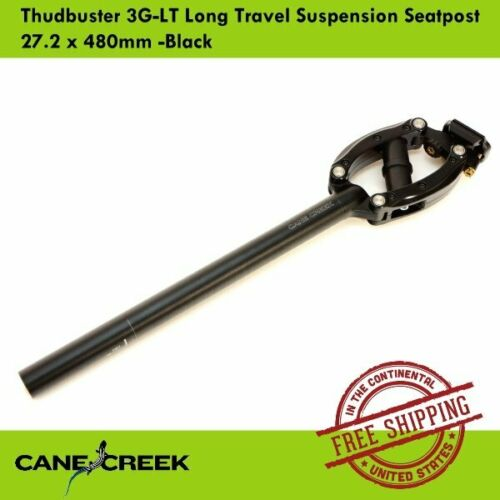 Cane Creek Thudbuster 3G-LT Long Travel Suspension Seatpost 27.2 x 480mm Black