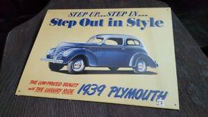 PLYMOUNTH-1939-Placa-metalica-litografiada-publicidad-38-x-28-cm-replica