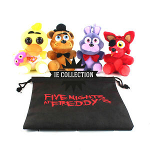 Details about Five Nights at Freddy's Set 4 Peluche pupazzi Fazbear Foxy  plush Chica Bonnie