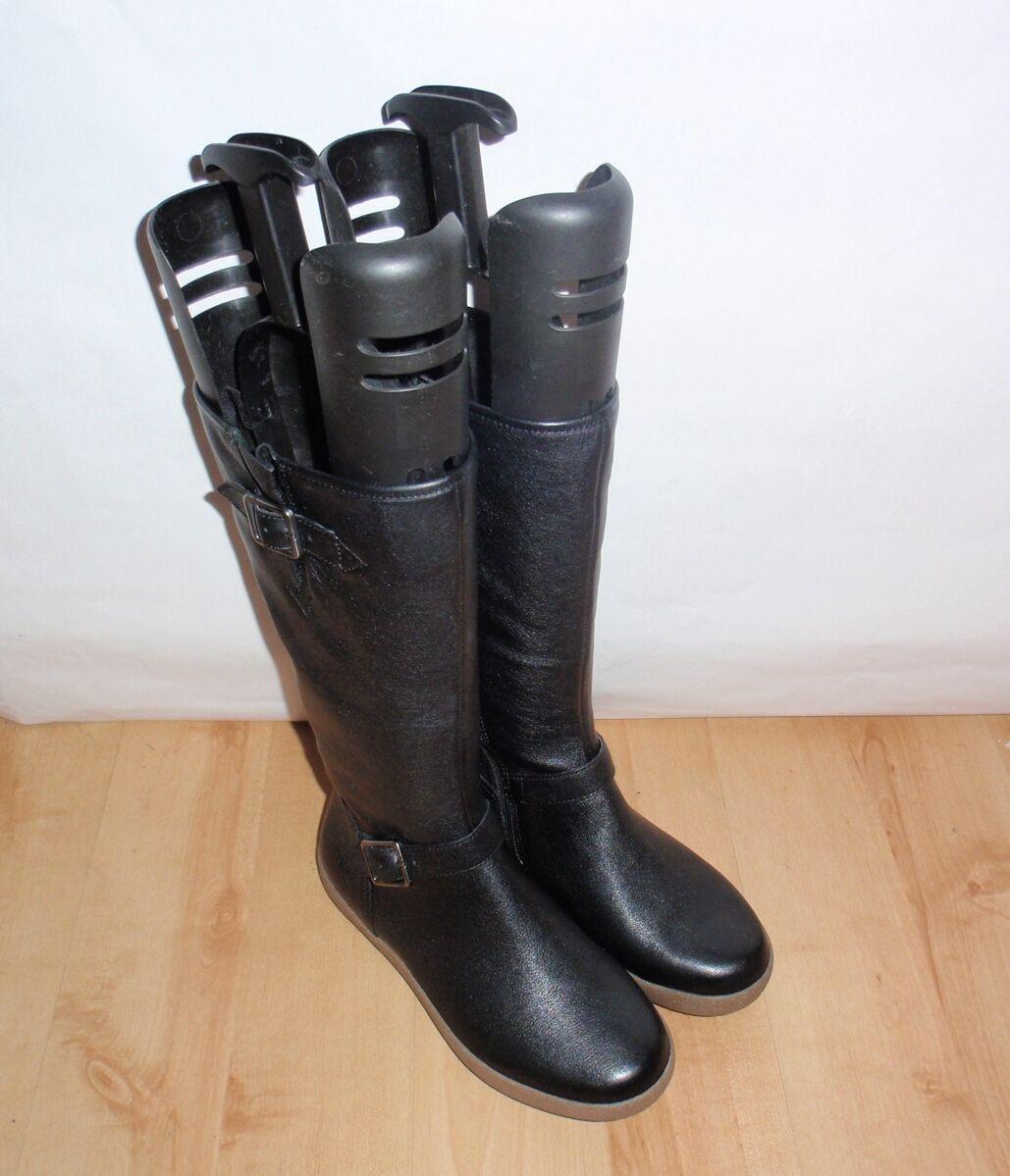 NEU Clarks active air Damenss NECK SPARKLE schwarz Leder boots Größe 4 D EU 37