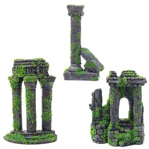 Moss-Covered-Roman-Ruin-Aquarium-Fish-Tank-Ornament-Decorations-Features